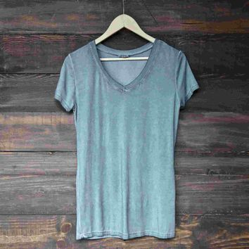 BSIC - vintage acid wash v neck t-shirt (more colors) Day-First™