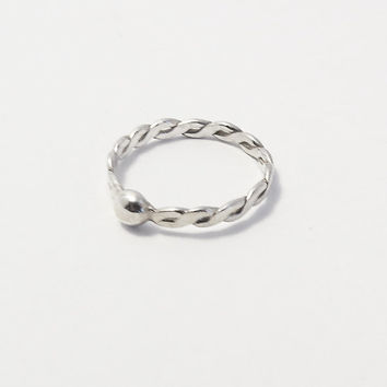 Fine Sterling Silver Ring-Simple - Handmade Jewelry for Everyday Use - Handmade Jewelry