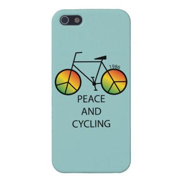 Peace and Cycling Message iPhone 5 Case from Zazzle.com