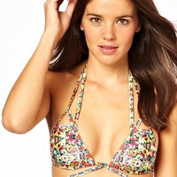 ASOS Mirror Floral Lattice Triangle Bikini at asos.com