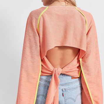 Without Walls Luna Tie-Back Sweatshirt | Urban Outfitters