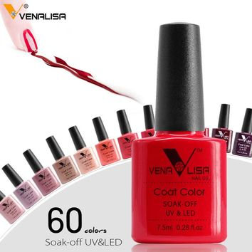 #61508 2018 new brand Venalisa hot sell soak off uv gel 60 colors 7.5ml supper shinning mirror effect nail gel polish lacquers