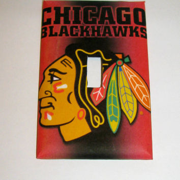 Light Switch Cover - Light Switch Plate Chicago Blackhawks  NHL Hockey