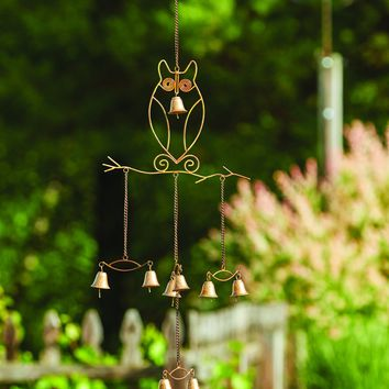 Owls w/Bells Wind Chime