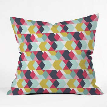 Heather Dutton Tribeca Nightlife Throw Pillow