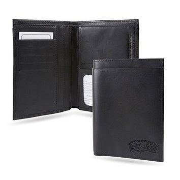 San Antonio Spurs NBA RFID Blocking Traveling Passport Leather Wallet
