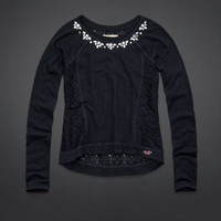 County Line Lace Back Shine Top