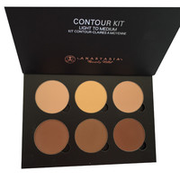 Contour Kit Light to Medium 6 Color Bronzer