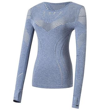 Mitra- Long Sleeve Yoga Workout Top