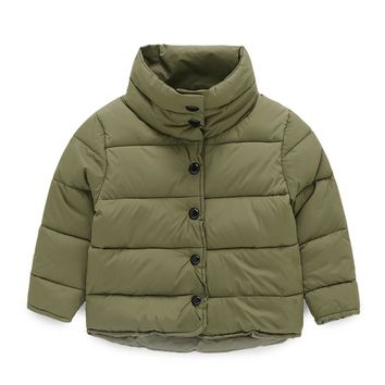Mudkingdom Boys Down Cotton Jacket Winter Toddler Thermal Turtleneck Thick Kids Coats Children Outdoor Girl Clothes