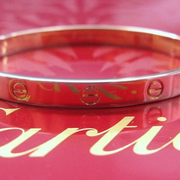 Cartier 18Kt Love Bracelet Rose Gold Size 16 EW1096