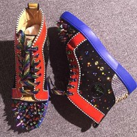 Cl Christian Louboutin Pik Pik Style #1986 Sneakers Fashion Shoes