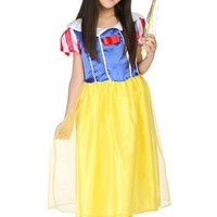 CRAZY POMELO Princess Party Dress Costume With Magic Wand