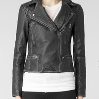 All Saints Black Cargo Biker