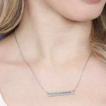 I heart you to the moon and back Message Bar Necklace