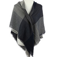 Patterned Blanket Scarf from Love - W/O - Disdain