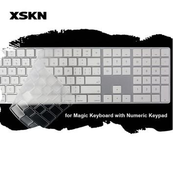 XSKN Keyboard Skin for Magic Keyboard with Numeric Pad Clear TPU Ultra Slim Laptop Keyboard Cover decals Protective Film US