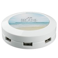 Just Breathe at the Beach USB Charging Station