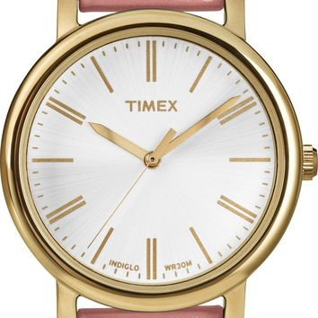 Timex Womens Originals Pink Leather Strap Watch