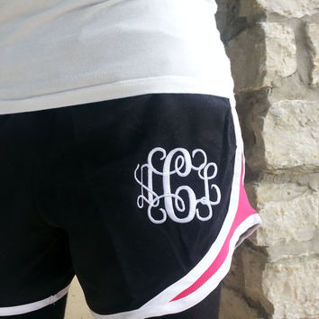 Monogram Adult Running Shorts  Font Shown INTERLOCKING