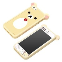 San-X Characters TPU Bumper-Case for iPhone5/5s with Screen Protector Accessory Set (Korilakkuma)