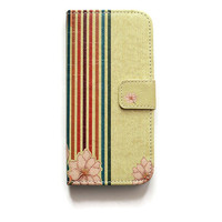 iPhone 6 Wallet Case Retro Stripes iPhone 6 Wallet Geometric iPhone 6 Wallet Flower Floral W211