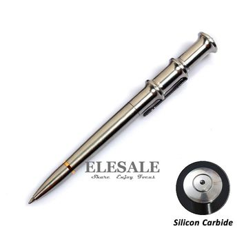 High Quality Portable Stainless Steel Tactical Pen With Silicon Carbide For Glass Breaker Emergency EDC Tool Ball Point Pen