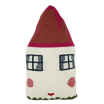 Little HOUSE shaped pillow - white