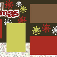 Cozy Christmas Premade 2-page 12 X 12 Scrapbooking Page Layout or Page Kit