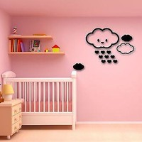 Wall Stickers Vinyl Decal Rain Sky Clouds for Kids Room (ig957)