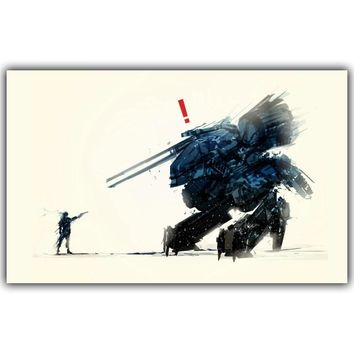 Metal Gear Solid V Video Games Poster Silk Fabric Poster Print Picture Home Decor