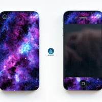 Stardust Galaxy iPhone Skin iPhone decal sticker iPhone sticker for iPhone 4, iPhone 4s, iPhone 5, iPhone 5s and iPhone 6 Space Stars Nebula