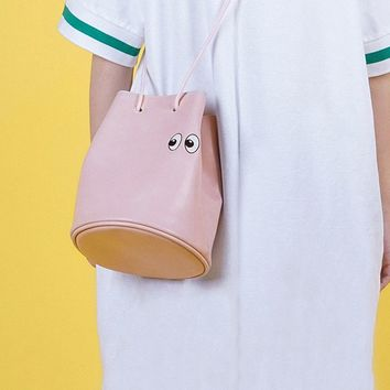 Xaoye Emoji Eye Bucket Bag