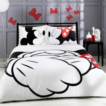 Cool Mickey Minnie Mouse 3D Printed Bedding Duvet Covers Sets Girls Children's Bedroom Decoration Woven 400TC Twin Full Queen King SZAT_93_12