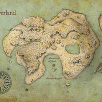 Peter Pan Neverland Map Print