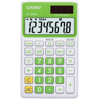 Casio Solar Wallet Calculator With 8-digit Display (green)