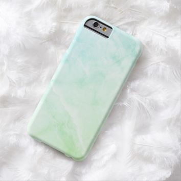 Claire Blossom Blue marble with luxury feeling Barely There iPhone 6 Case