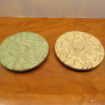 Two Frankoma Pottery Trivets # H94TRC