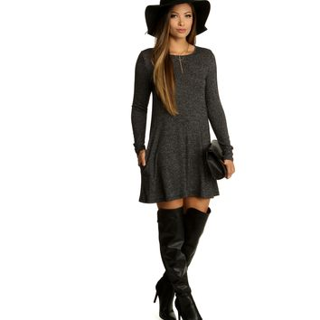 Charcoal Swing With Me Tunic
