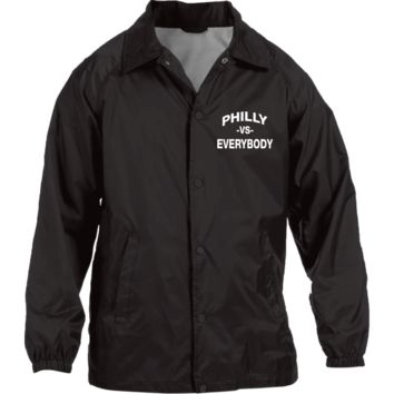 Philly vs. Everybody Embroidered Nylon Staff Jacket