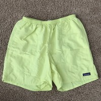 "Patagonia Mens Baggies 7""— Neon Yellow"