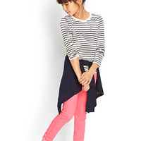 FOREVER 21 GIRLS Striped Long Sleeve Top (Kids)