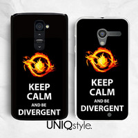 Keep Calm and be Divergent plastic back cover case - LG G2 case, Nexus 4 case, Nexus 5 case, Moto G Moto X case - L84