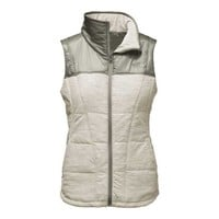 The North Face Pseudio Full Zip Vest for Women in Moonlight Ivory Heather NF0A2THC-LJA