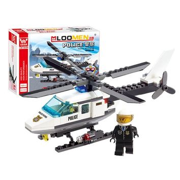 Air Force plane City Series The Police Helicopter Model Building Blocks Set Bricks Children Favourite Toys For Birthday Gifts