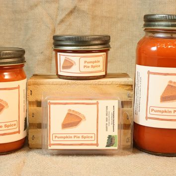 Pumpkin Pie Spice Candle, Scented Candles and Wax Melts, Highly Scented Bakery Candles and Wax Tarts, Great Fall Scent, Thanksgiving Candle