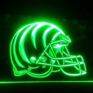 b-155 Cincinnati Bengals Helmet beer bar pub club 3d signs LED Neon Light Sign man cave