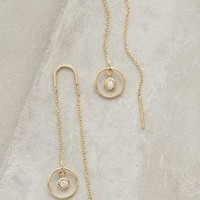 Vicinitas Threaded Earrings by Anthropologie in Gold Size: One Size Earrings