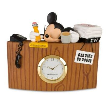 Sleeping Mickey Mouse Desk Clock | Clocks | Disney Store