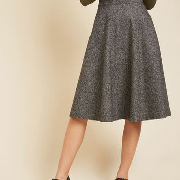 Prim Class Hero Skirt in Charcoal | Mod Retro Vintage Skirts | ModCloth.com